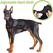 Slowton No Pull Dog Vest Harness, 2018 New Generation Adjustable Neck Strap and Chest Strap Breathable Padded Vest with Top Handle Harness with Locking Buckle for Large Dogs Training Walking (L)