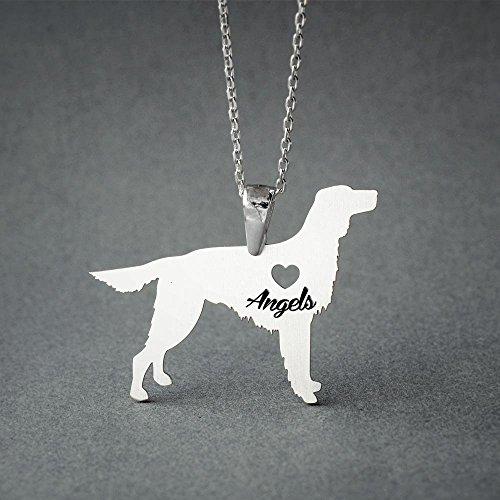 Personalised Irish Setter Necklace - Irish Setter Name Jewelry - Dog Jewelry - Dog breed Necklace - Dog ()