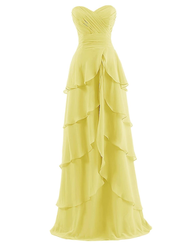 Dresstells Women's Sweetheart Long Chiffon Prom Dress Evening Dress