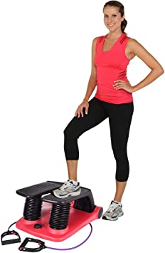 BTTHWR Air Stepper Climber Fitness Machine Cable Resistente Air Step Aerobics Machine Escalera Stepper Equipo de Ejercicio con CD Máquina de Adelgazamiento de Ejercicio: Amazon.es: Hogar