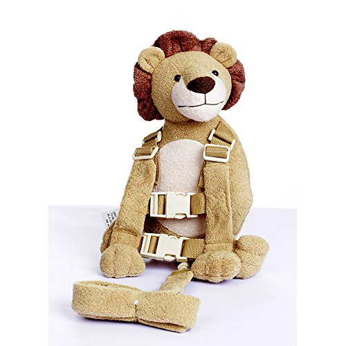 Berhapy 2 in 1 Lion Toddler Safety Harness Backpack Children's Walking Leash Strap(Yellow)