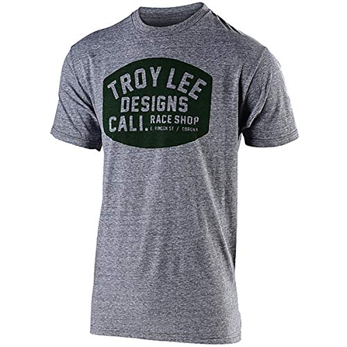 Troy Lee Designs Men's Blockworks T-Shirt (XX-Large, Vintage Gray Snow)