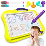 Magnetic Drawing Board For Kids Travel Size Magnetic Doodle Board Large Colorful Sketch Erasable Pad With Magnetic Pen and 4 Stamps Educational Toy Party Favor for Toddlers Boys Girls Upgrade Version