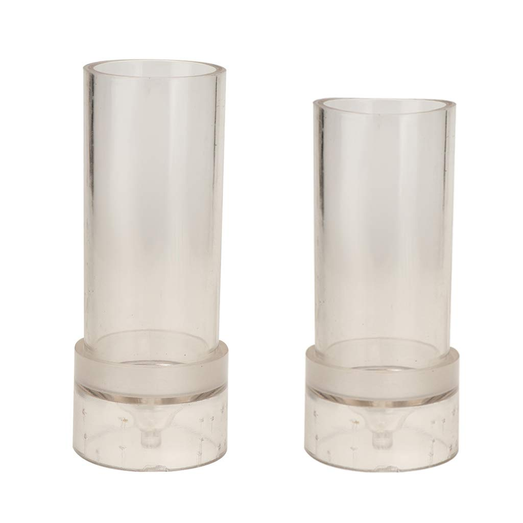 38mm // 1.5inch in Diameter Wedding Use Supplies IPOTCH 2Pcs Durable Clear Plastic Round Cylinder Candle Molds Home Church for DIY Handmade Candles
