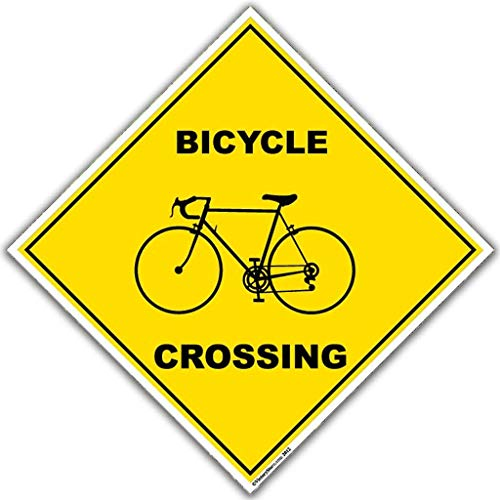 VictoryStore Yard Sign Outdoor Lawn Decorations: Bicycle Crossing Sign - 22