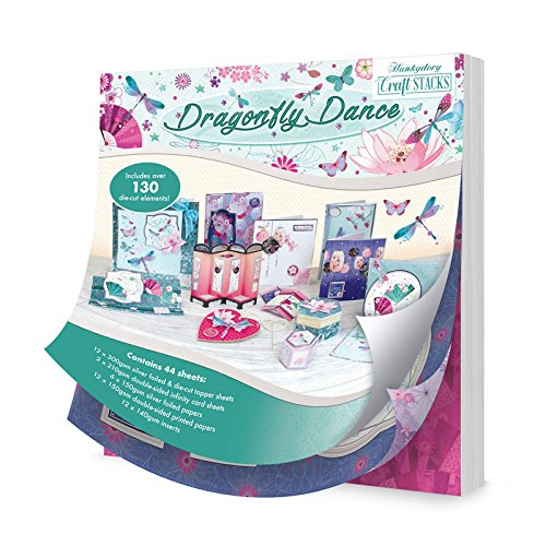 Hunkydory Crafts STACK017 Dragonfly Dance Craft Stack Paper Pad, Multicolor