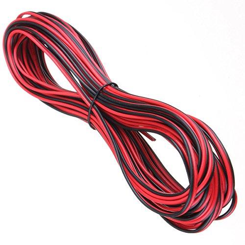 20 m 2 Core Schwarz Rot 12 V 12 Volt Verlängerungskabel AMP Auto ...