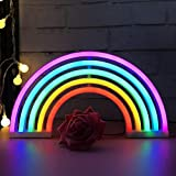 XIYUNTE Rainbow Neon Lights, Rainbow Lights Christmas Neon Signs Wall Light Battery and USB Operated Light up LED Signs Rainbow Lamps for Children's Bedroom,Christmas,Wedding,Party Decoration