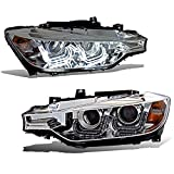 (US) SPPC Chrome Projector Headlights U Bar Plank Style For BMW 3 SERIES F30 4 DOOR (ONLY FIT WITHOUT MOTOR VERSION) - (Pair)
