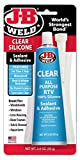J-B Weld 31310 Clear All-Purpose RTV Silicone Sealant and Adhesive - 3 oz.