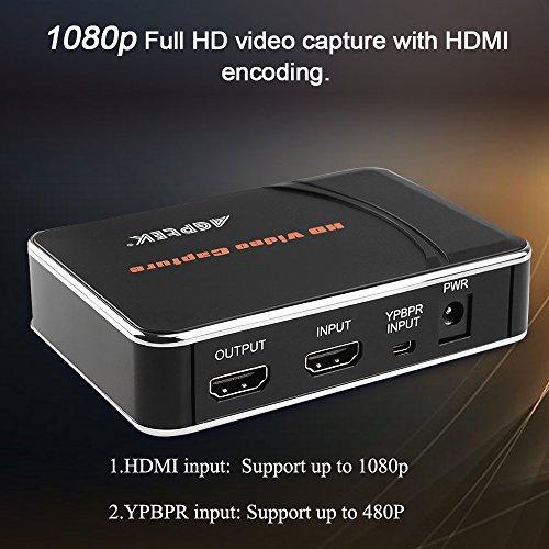 agptek hd video capture instructions