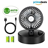 COMLIFE Battery Operated Fan,Portable Clip on Fan with 4400mAh Rechargeable Battery, Personal Cooling USB Desk Fan,Long Working Time,Stepless Regulation,Strong Airflow