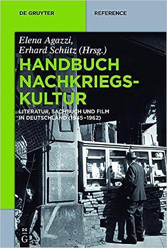 Descarga gratuita de libros electrónicos para teléfonos móviles.Handbuch Nachkriegskultur: Literatur, Sachbuch und Film in Deutschland (1945-1962) (De Gruyter Handbook) (German Edition) en español PDF CHM
