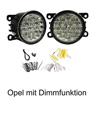 LED Tagfahrlicht mit Dimmfunktion rund 90mm Durchmesser.