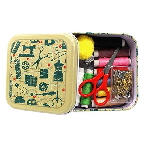 Perfk 裁縫セット ソーイングセット 縫い糸 縫い針 プロ裁縫道具 家庭用 大人用 収納ケース付き 全3色 - グリーン