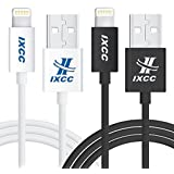 iXCC Element II Lightning Cable 6ft, iPhone Charger, for iPhone 7 6s 6 Plus, SE 5s 5c 5, iPad Air 2 Pro, iPad mini 2 3 4, iPad 4th Gen [Apple MFi Certified](White and Black)