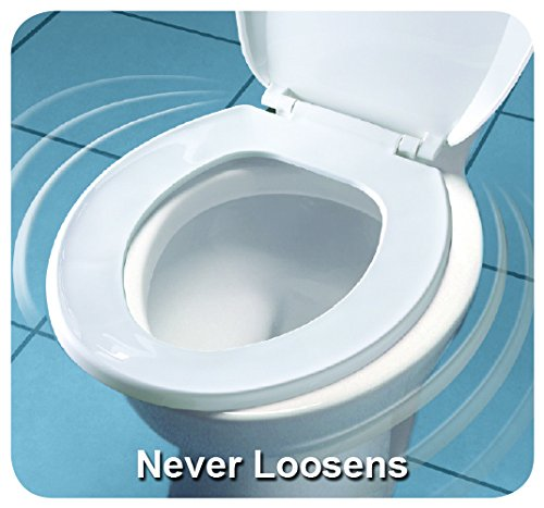 Bemis Medic-Aid 3'' Lift Raised Open Front Plastic Toilet Seat, Round, White, 3L2055T 000 by Bemis (Image #3)