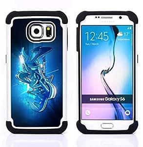 For Samsung Galaxy S6 G9200 - Street graffiti Dual Layer caso de Shell HUELGA Impacto pata de cabra con im??genes gr??ficas Steam - Funny Shop -