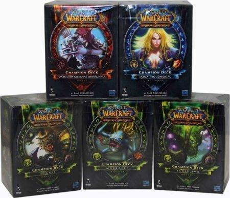 World of Warcraft TCG 2012 Champion Decks Set - Jaina Proudmore, Dark Lady Sylvanas Windrunner, Hogger, Elderlimb, Murkdeep