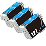 Karl Aiken Remanufactured Ink Cartridges High Capacity Replacement for 127 (6x Cyan, 6 Pack)