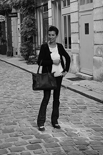 cuir femme MY Sac Main Rangoon Modèle à Fonce Bleu BAG OH Zafn7q7