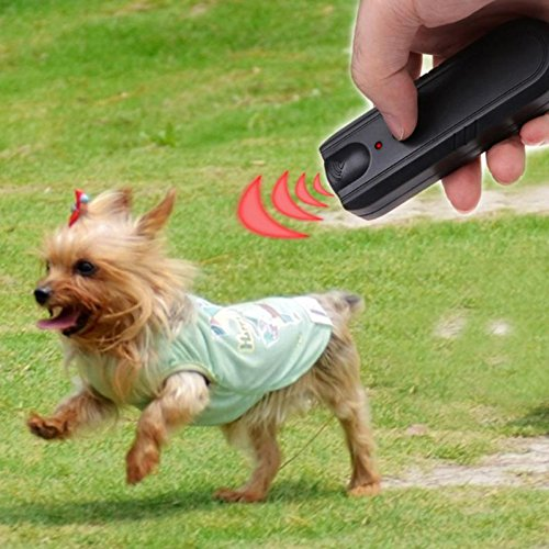 STORE-HOMER - LED Ultrasonic Dog Repeller Animal Training Device Pet Anti Barking Stop Bark Trainer Drive Away The Vicious Dog Accessaries
