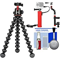 Joby GorillaPod 5K Flexible Tripod with Ball Head Kit + Hand Grip + Action Camera Clamp + Kit