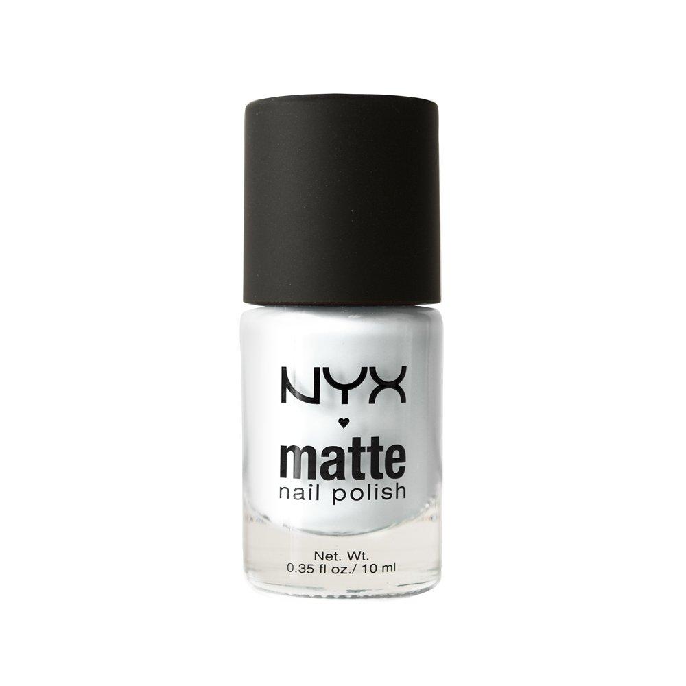 Amazon.com : NYX Professional Makeup Matte Nail Polish, White, 1.76 ...
