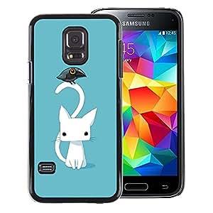 Red-Dwarf Colour Printing Cute Japanese Kitten Cat Blue Raven - cáscara Funda Case Caso de plástico para Samsung Galaxy S5 Mini, SM-G800, NOT S5 REGULAR!