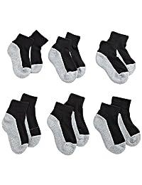 Jefferies Socks Little Boys' Seamless Sport Quarter Half Cushion
