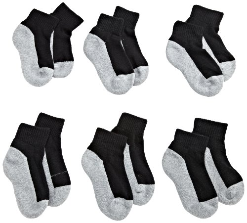 Jefferies Socks Boys Seamless Quarter-Height Half Cushion Socks (Pack of 6)