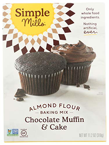 Simple Mills Almond Flour Baking Mix, Gluten Free Chocolate Cake Mix, Muffin pan ready, Made with whole foods, (Packaging May Vary), 11.2 Ounce (Pack of 1) 2