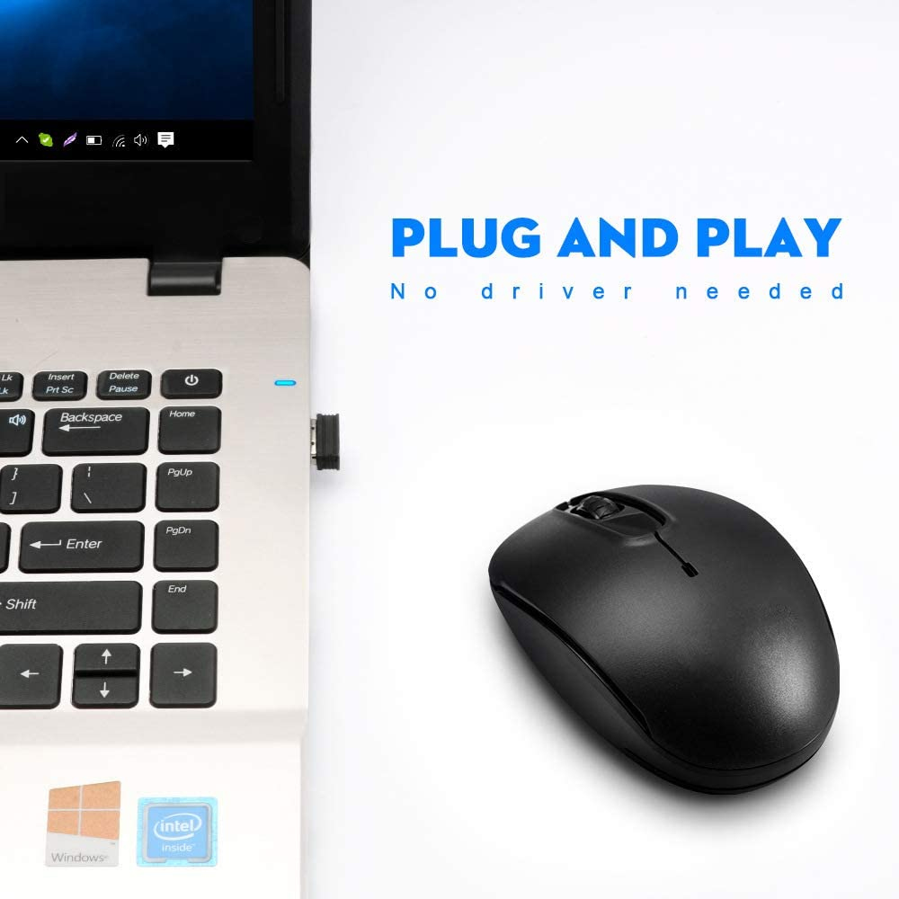 Aodin Mini Proyector - Ratón inalámbrico Portátil de 2.4G con ...