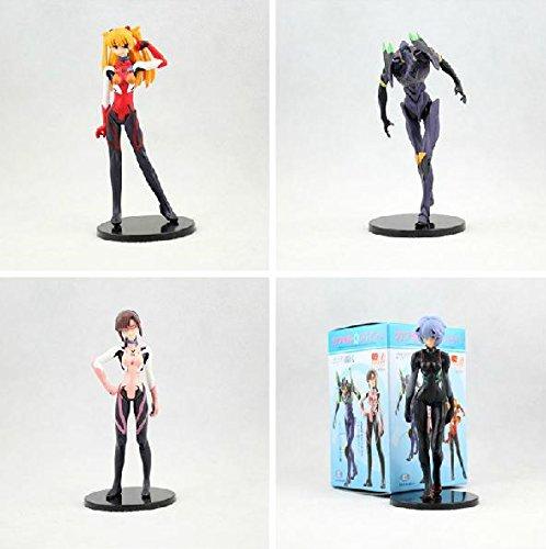Asuka Pvc Figure - EVA Neon Genesis Evangelion Ayanami Rei Makinami Asuka PVC Action Figures Toys 4pcs/set