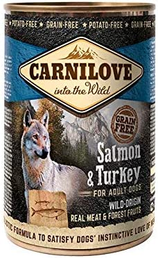 Carnilove Wild Meat Salmon & Turkey, Comida Humeda para Perro, 400 gr - 400 gr
