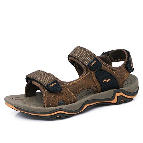 Da Maschili In Da Da YXLONG Uomo Spiaggia Estate Sandali Uomo Scarpe Sandali 1727lightbrown Scarpe Uomo Nuovi Pelle Sandali Da 2018 vxvqnR8t