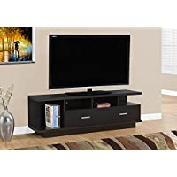 Monarch I 2674 TV Stand with 2 Drawers, 60, Cappuccino