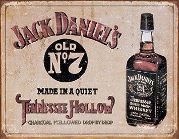 Retro Kühlschrank Jack Daniels : Amazon jack daniel s tennessee hollow whiskey vintage schild