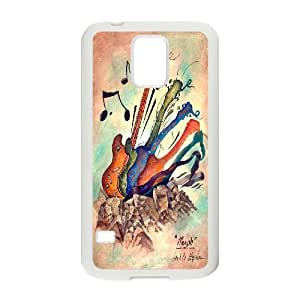 High quality guitar Hard Shell Cell Phone Case Cover for For Samsung Galaxy Case S5 FKGZ428829