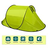Cosway Lightweight 2-Person Pop Up Tent Automatic Instant Setup Easy Fold Back Shelter with Carry Bag for Camping, Hiking and Backpacking, US Stock (Green) For Sale