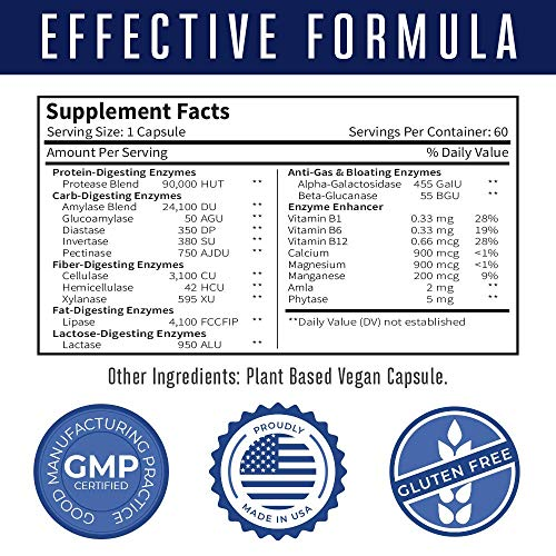 Amazon.com: Ultra Vegan Digestive Food Enzymes (GMP ...