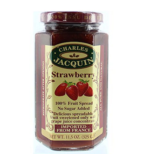 Charles Jacquin French All Natural Fruit Spread 11.5 Ounce Imported From France (Strawberry)