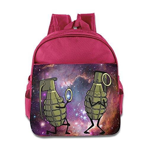 Dangerous Proposal Kids Backpack School Bag For Boys/girls Pink
