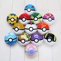 Pokemon Pokebomb Bath Bombs Pack of 3 Gift Set Basket with Lush Shea Butter and Epsom Salts - Surprise Toy Figure Inside - Handmade Fizzies with Natural Ingredients - Free Pokeball Included