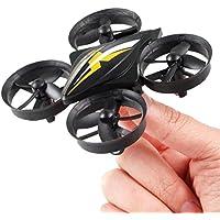 Kanzd New 2.4G MINI Four-Axis RC Quadcopter Drone Aircraft Headless Return The Mini-UAV Pocket Aircraft (Black)