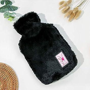 28cm Noir Meigold 1 Bouillotte en Caoutchouc 1 l avec Housse chauffante pour Les Mains en PVC 18
