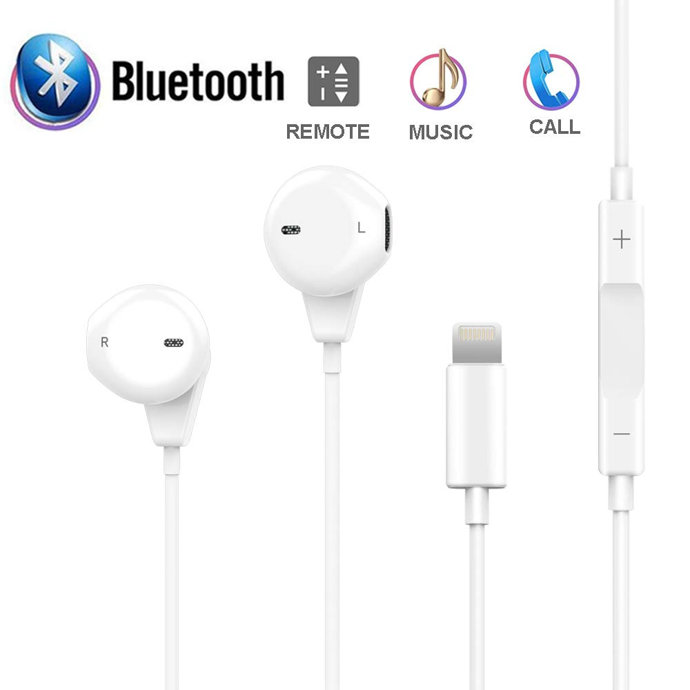 Headphones Compaitible for Phone 7 Plus, Microphone Earphones Stereo Headphones and Noise Isolating Headset Applicable iPhone 7/7 Plus / 8/8 Plus (Bluetooth Connectivity)