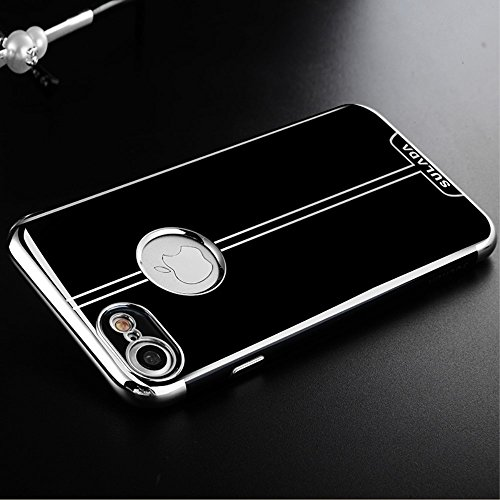 SULADA Electroplating TPU Cell Phone Tasche Hüllen Schutzhülle - Case für iPhone 7 4.7 Inch - Silver