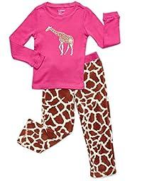 Fleece & Cotton 2 Piece Pajama Giraffe 6 Years