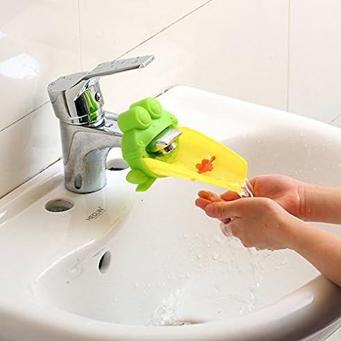 Demiawaking Süß Wasserhahn Verlängerung Extender Für Kinder Baby Hände  Waschen Badezimmer Cartoon Frosch Design (